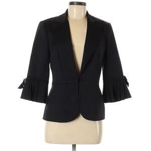 Trina Turk Palm Springs Pleated Sleeve Blazer 10